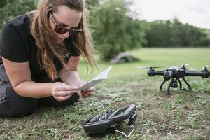 Katrin Magnusson testade sju fotodrönare mellan 1 000 och 10 000 kronor.Bild: Foto: Ola Jacobsen