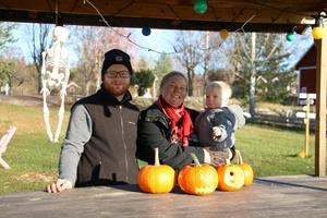 På Granelunds Odlingar bjöd paret Andreas Persson och Lena Persson Byrdeman på matnyttiga tips för hur en pumpa ska odlas.