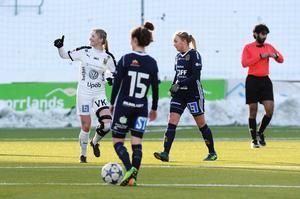 Elin Bäckström hoppade in för Umeå IK och gjorde matchens enda mål när SDFF bjöd in till träningsmatch på Idrottsparken.