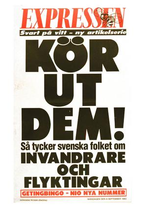 Expressens löpsedel från 1993