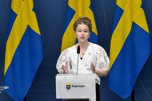 Amanda Lind, kultur- och demokratiminister. Foto: TT