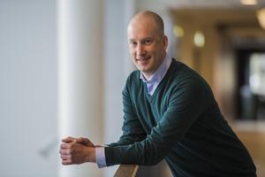 Johan Widebro, Modos vd, tror att Modo är nära att komma till avslut då det gäller sportchefsrekryteringen. Bild: Robbin Norgren
