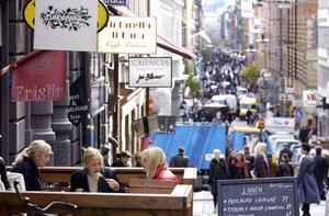Drottninggatan i Stockholm. Foto: Gunnar Lundmark.