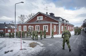 Soldater från Fältjägarbataljonen samlades till minnesceremoni för Helena Fjellström.