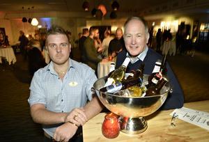 Hotellchef på Hallstaberget Björn Norman och projektledare Björn Johnson var väldigt nöjda över att kunna presentera deras första Öl och Whiskeyfestival.