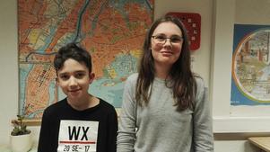 Från Höglandskolan tävlar Emir Norgren Dogu och Karin Stenberg från klass 5c.