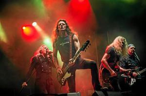 Metallsvenskan har höjt sommartemperaturen i Örebro och Norrköping under många år, på bilden upppträder bandet Saxon sommaren 2014.Foto: Kicki Nilsson/Icon Photography