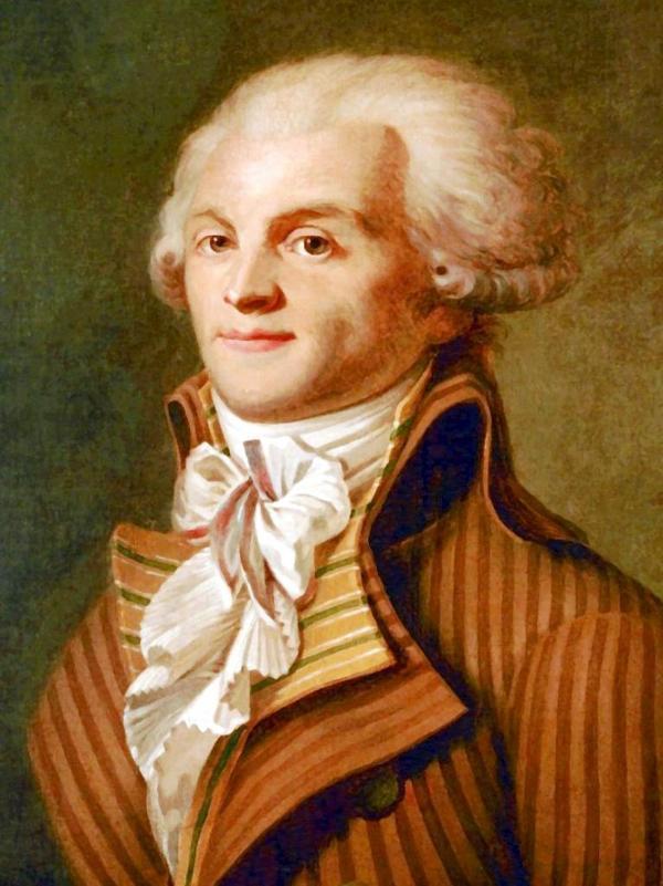 Maximilien de Robespierre. Målning från 1790 av okänd konstnär.