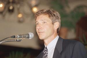 Harrison Ford år 1989, sju år efter att Blade Runner släpptes.