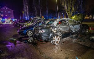 De flesta bilbränderna som skett i Krylbo i år har ägt rum under nattetid. Foto: Niklas Hagman