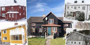 Ett montage med några av husen på Dalarnas Klicktoppen för vecka 5.