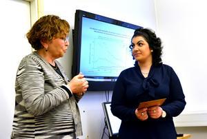Sonia Andersson tog initiativ till föreläsningen och är tacksam för att Asal Ghazizadeh delger läkarstudenterna sin berörande historia.