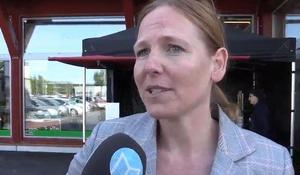 Anna Björkman, verksamhetschef vid Falu Gruva hyllar utformningen av den nya Coop-affären granne med världsarvet.
