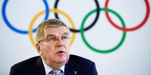 Thomas Bach, president för Internationella olympiska kommittén. Foto: Valentin Flauraud/AP Photo