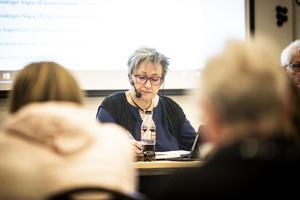 Kommunfullmäktiges ordförande Birgitta Orrebo (Afr).