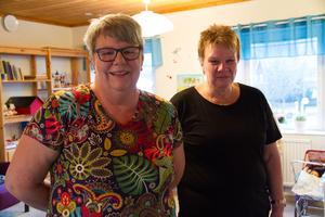 Förskolepedagogerna Susanne Envall, t.v. och Ann-Helen Norgren är ledare på öppna förskolan i By-Folkärna pastorat.