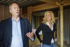 Per-Åke Wahlund berättar att den nya restaurangen också kommer att ha en hiss som en del i handikappanpassningen.