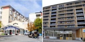 Sjukhusen i Örnsköldsvik och Sollefteå.