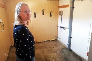 Susanne Carlson och familjen fick en överraskning när de kom hem – översvämning på källarvåningen.