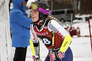 Elsa Håkansson-Fermbäck blev bästa svenska i såväl storslalom som slalom under JVM i Åre.