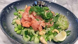 Lax sashiminär säkert nyttig men smakar ingenting. Foto: Lunchkollen