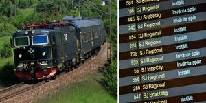 Antalet försenade och inställda tåg minskade under juni och juli i år jämfört med samma period förra året. Foto: Stellan Nilsson & Marcus Ericsson / TT