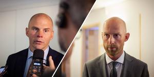 Advokat Olle Kullinger och åklagare Niklas Jeppsson.