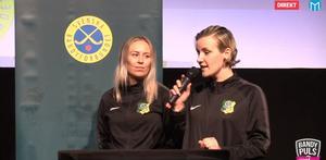 Malin Andersson och Johanna Pettersson.