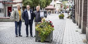 Oskar Kirkbakk, beredskapssamordnare Östersunds kommun, Anders Wennerberg, kommundirektör och Martin Sahlberg från Destination Östersund berättade mer om kommande fordonshinder.