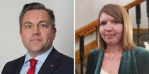 Oppositionsrådet Fredrik Nordström (S) och Therese Kristiansson (S) - 2 vice ordförande barn- och utbildningsnämnden.
