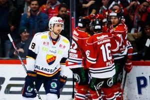 Jubel för Örebro här. Men Hedman var den som fick jubla efter slutsignalen. Bild:Johan Bernström/Bildbyrån