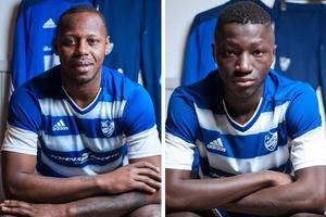 Samuel Barlay och Buba Fadika. Foto: Markus Winsa