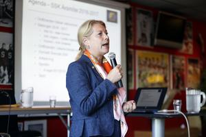 Catharina Elmsäter-Svärd blev omvald som SSK-ordförande för ett tredje år.