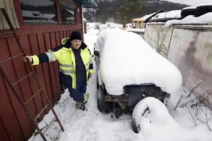 Den defekta Mitsubishin bakom Hasse Anderssons garage påstås ha varit i Malmö och dragit på sig en p-bot för ett par veckor sedan.