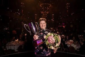 Sofia Modig, Apotea, är Sveriges bästa marknadschef 2019 och tog emot priset den 17 oktober 2019 på Berns i Stockholm. Foto: Pax Engström