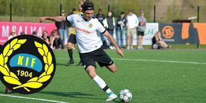 Korsnäs skyttekung Vassillios Andreadis Panagiotidis, månadens spelare i maj. Foto: Emma Åkerström