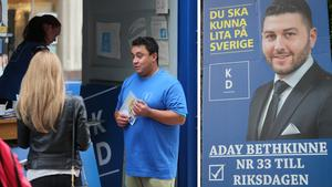 Har Södertäljes kristdemokrater fått draghjälp av en Botkyrkabo? David Winerdal svarar nej och Aday Bethkinne svarar ja på frågan,