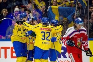 Tre Kronor ställer upp med flera nya namn i truppen. Foto: Johan Bernström (Bildbyrån).