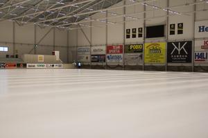 I Helsingehus Arena låg isen blank även under våren och sommaren.