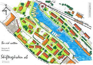 Köpings inre hamn i förslaget