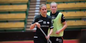 Emma Sparf på plats i sporthallen i Sundsvall.