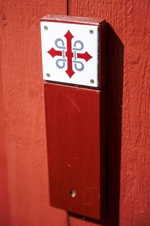 Symbolen för S:t Olavsleden.