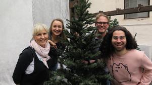 Gänget bakom Christmas Spectacular. Lena-Mie Bernkert, Rebecka Gustafsson, Magnus Carlsson och Kevin Martinez är några av dem.