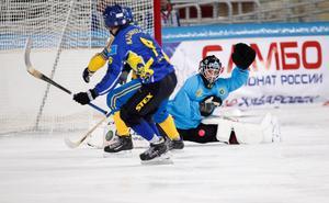 Anders Svensson gjorde en jätteräddning i kazakiskt friläge. Foto: Rikard Bäckman / Bandypuls.se / TT