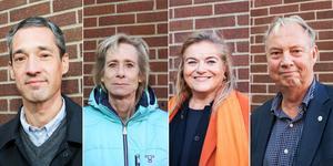 Daniel Adborn (L), Maria Gard Günster (C), Antonella Pirrone (KD) och Harry Bouveng (M) ingår i den borgerliga allians som styr Nynäshamns kommun från den 31 oktober 2018.