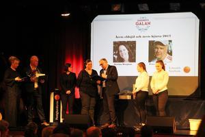 Årets eldsjäl blev Peter Söderlund och till Årets hjärta utsågs Martina Bergman.  (Foto: Matilda Larsson)
