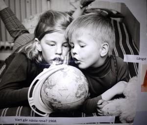 Inger Nilsson med sin lillebror Anders på en bild från slutet av 60-talet.  Foto: Privat