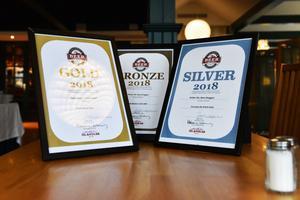 Cider blåbär fick guld i kategorin aromatiserad cider, Amber ale fick silver i Everyday Ale British Style medan Winter-Alt fick bronspris i kategorin Low Alcohol > 3,5 procent ABV.