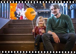 Andreas Fock, Filmfestivalgeneral med dottern Vanja, 5 år, Sundsvall.