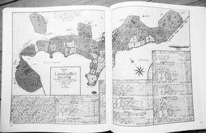 Gammal karta över Långnäs by.